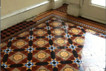 Victorian Tiled Floor Restoration in Glasgow
