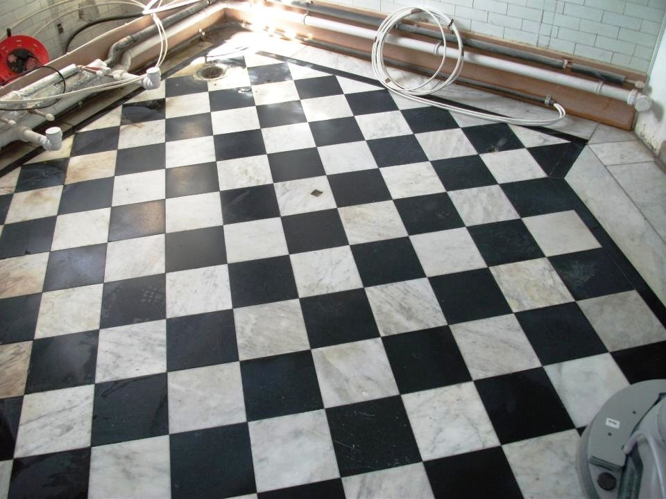 Marble Tiled Floor After Cleaning