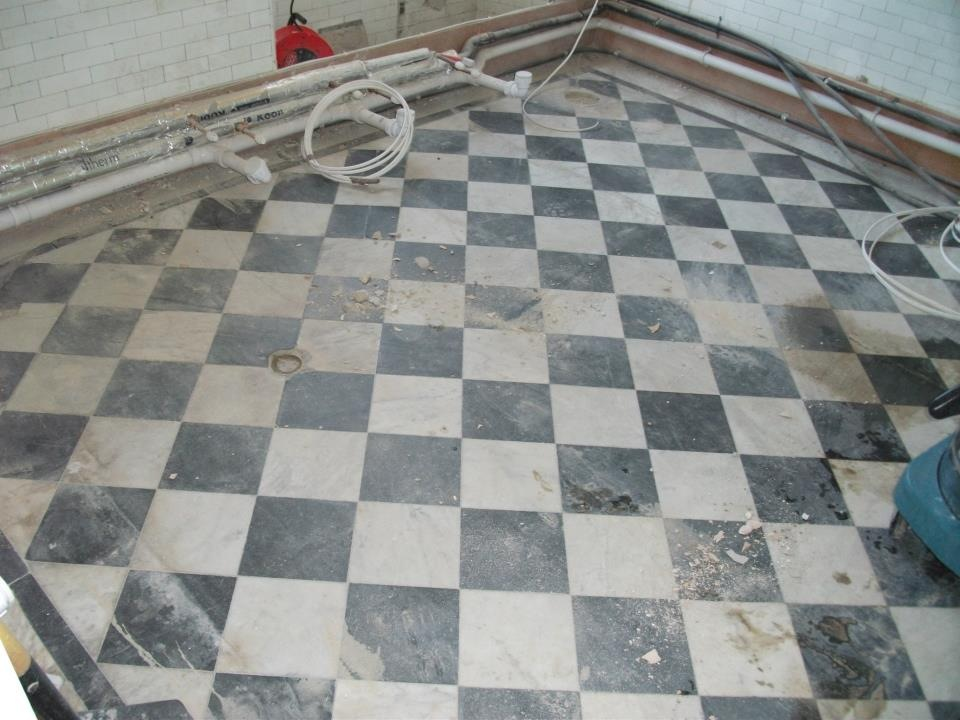 Marble Tiled Floor Before Cleaning
