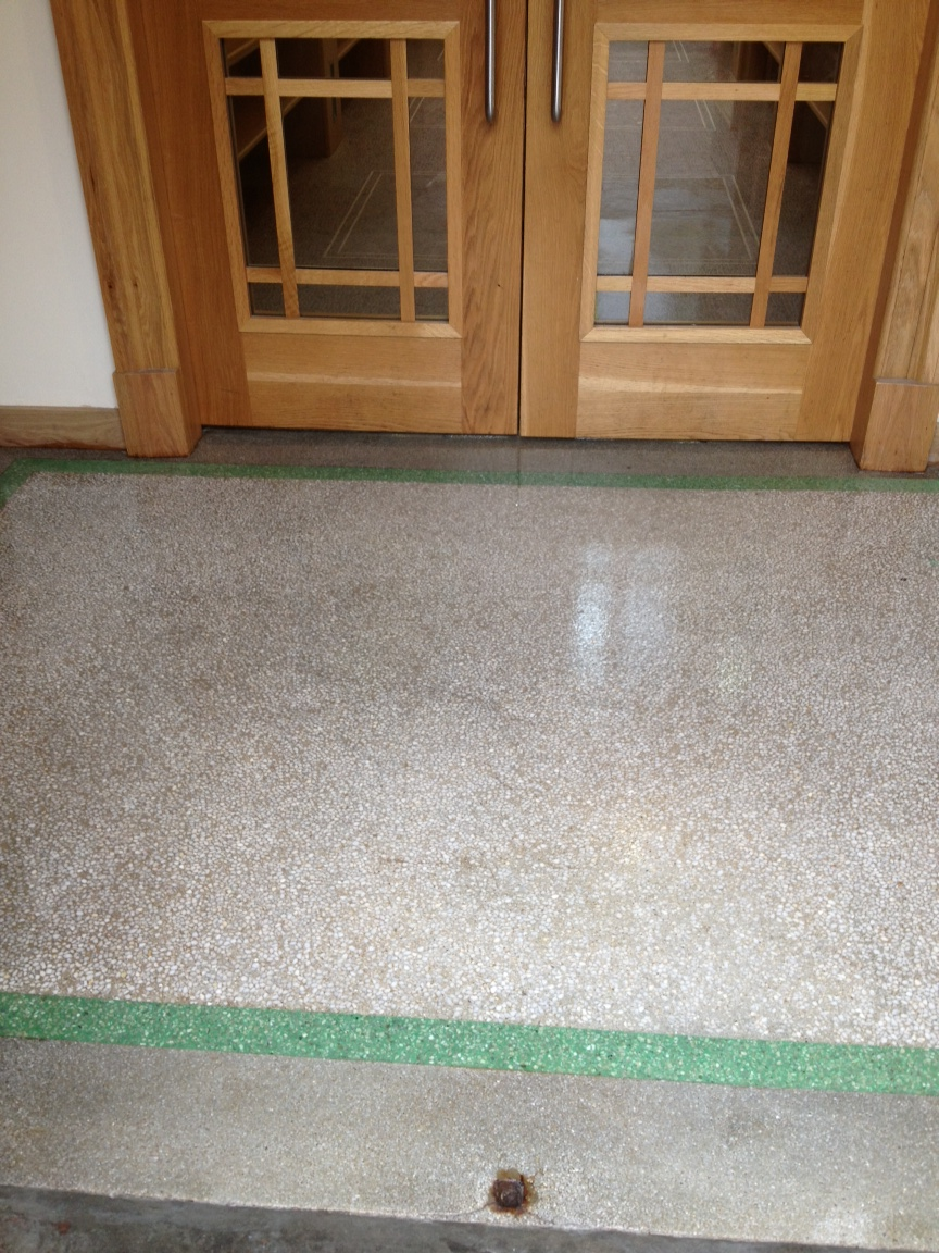 School Terrazzo Floor Kilmacolm after cleaning