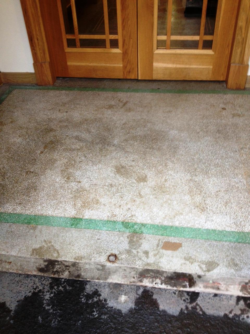 School Terrazzo Floor Kilmacolm before cleaning