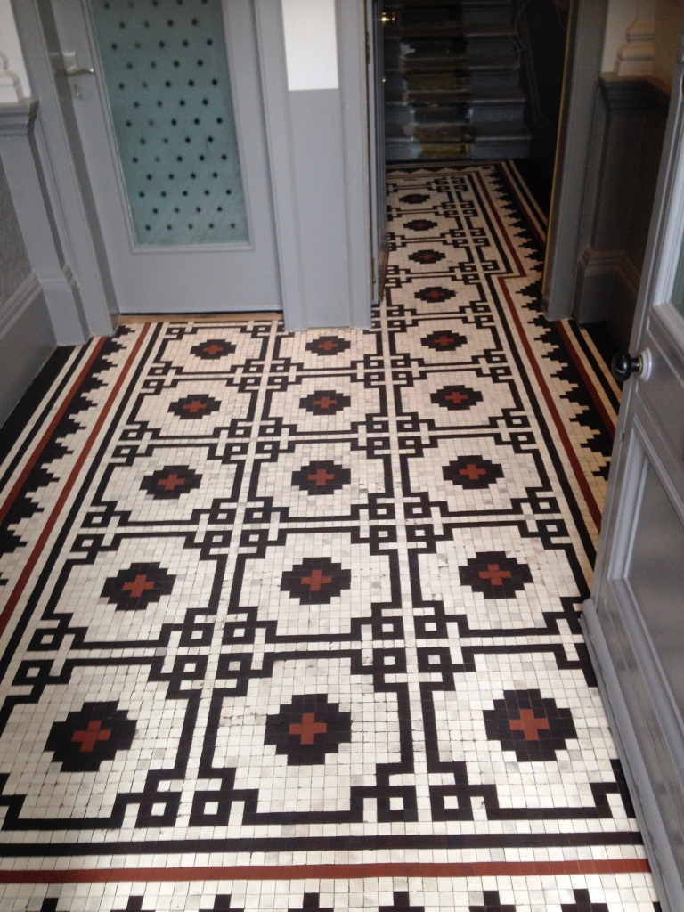 Victorian Mosaic tiles glasgow after cleaning