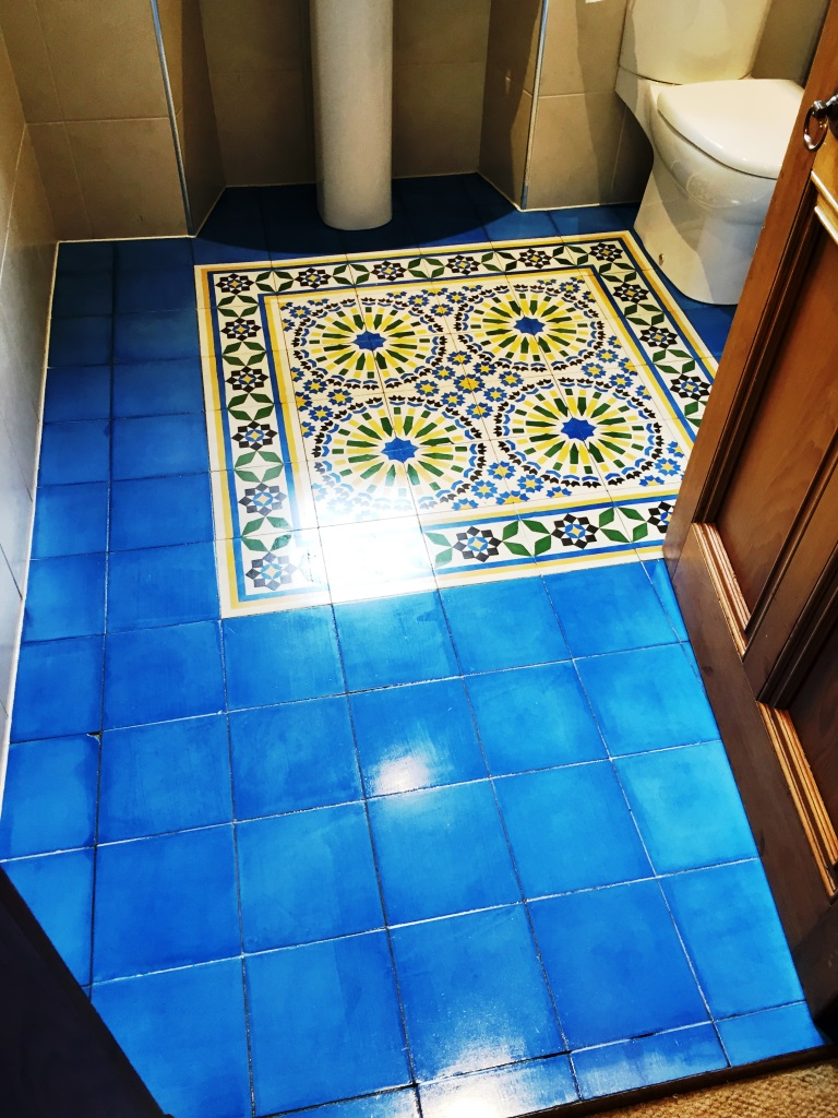 Moroccan Encaustic Cement Tiles Barrhead After Cleaning
