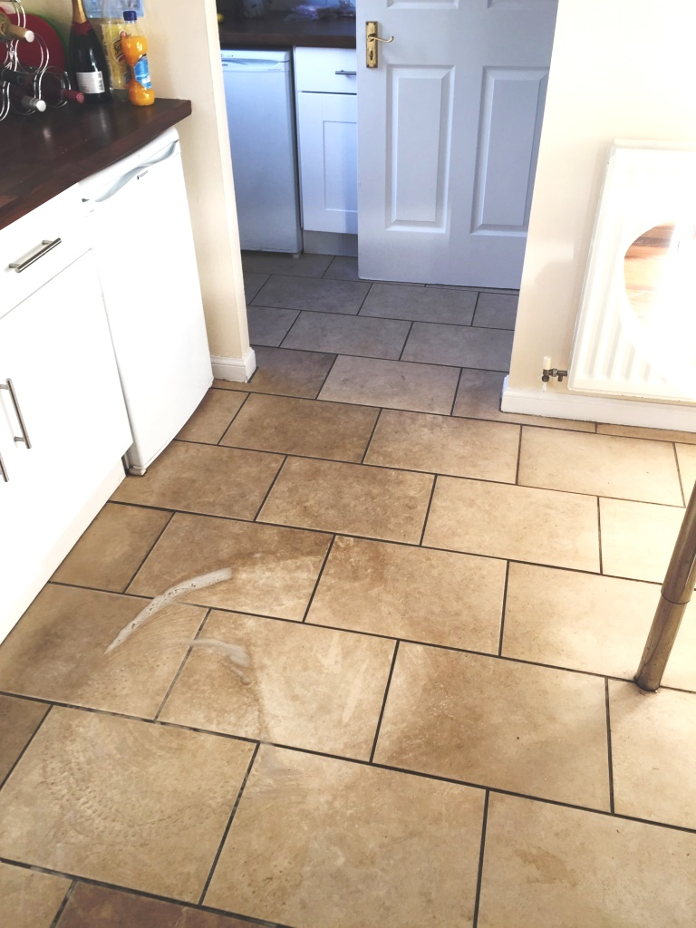 Porcelain Tiles Glasgow Before Deep Cleaning