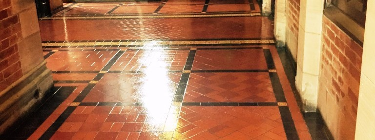 Restoring an Old Quarry Tiled Church Floor in Greenock