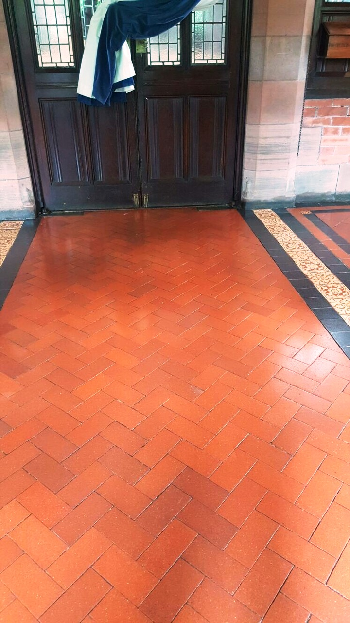 Lyle Kirk Church Quarry Tiles After Cleaning Greenock