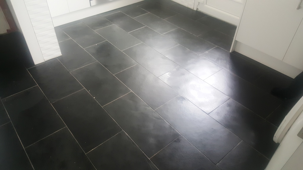 Slate Floor Cleaned and seaeled in Paisley