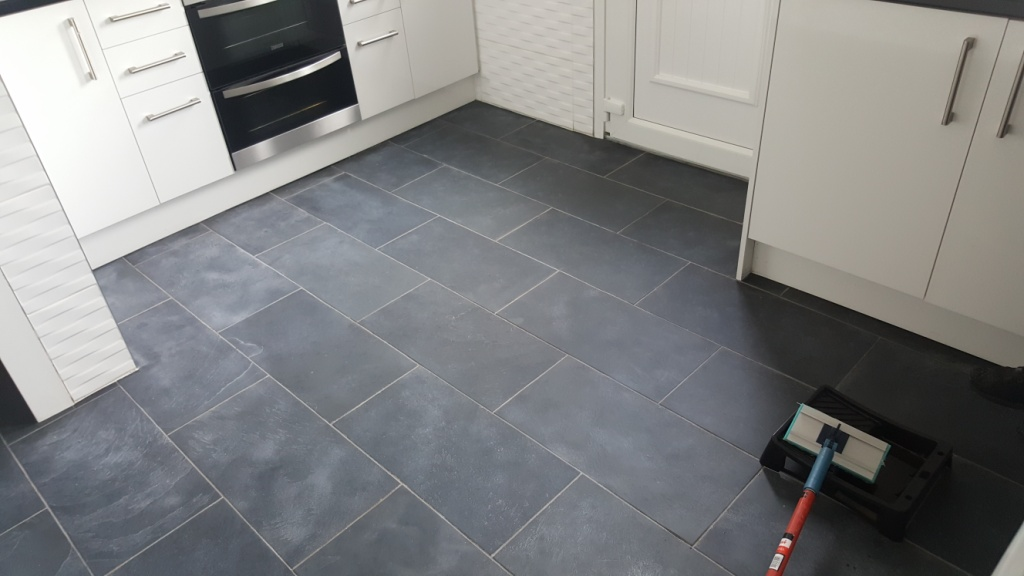 Slate Floor Cleaned in Paisley