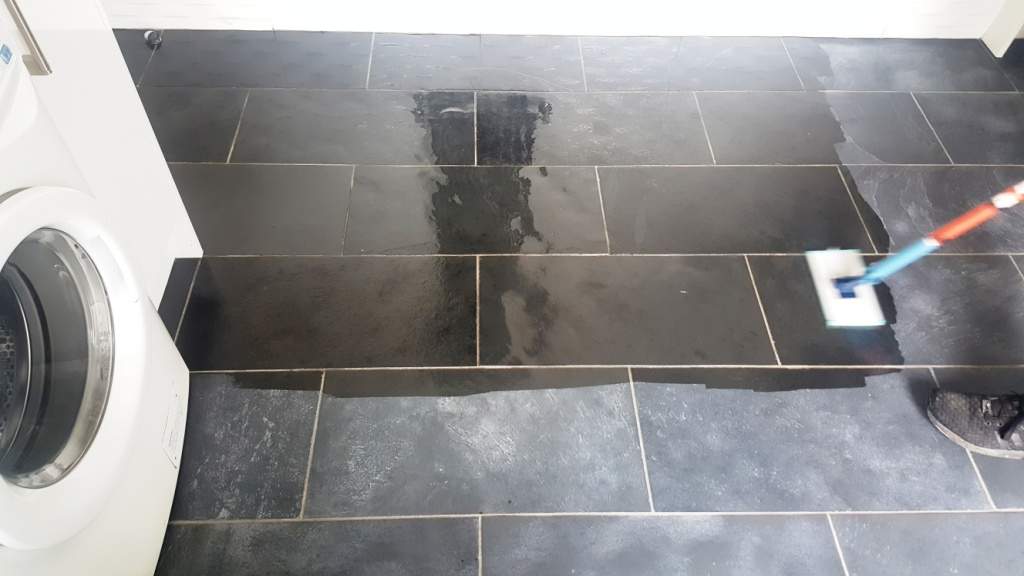 Slate Floor Treated with stone oil in Paisley