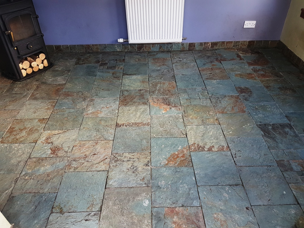 Slate floor after cleaning Gateside