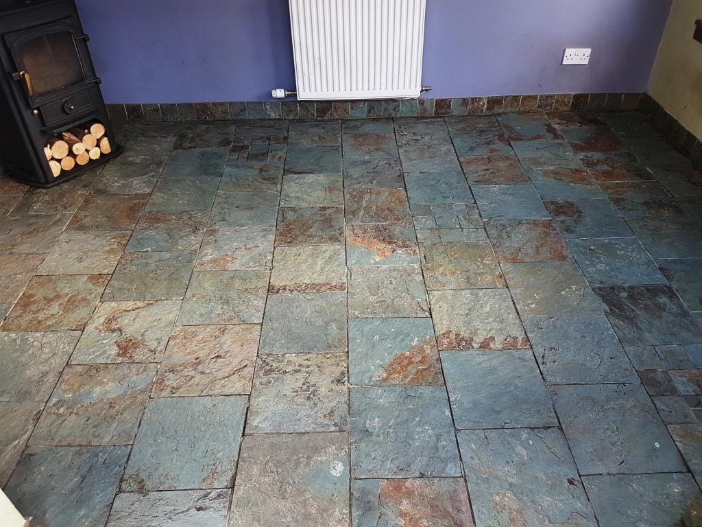 Slate floor after cleaning Gateside