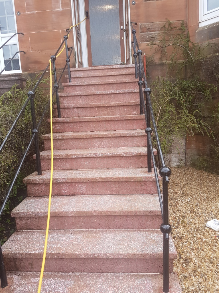 Terrazzo Steps After Cleaning and Sealing in Glasgow