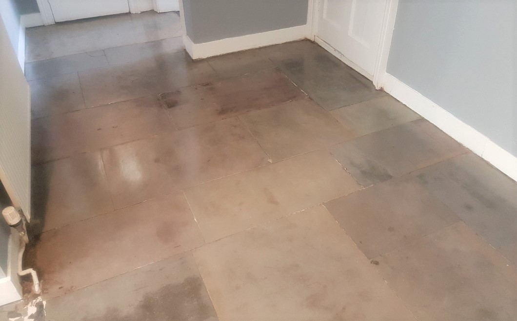 Flagstone Floor Glasgow West End After Restoration