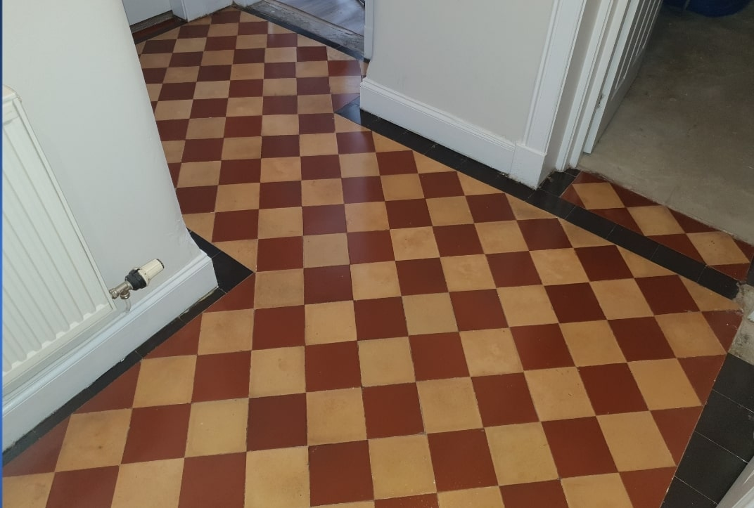 Victorian Hallway Floor After Cleaning Glasgow West End