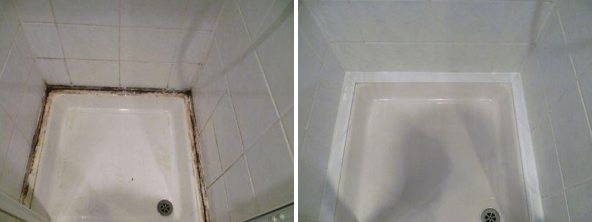 Dirty Shower Before and After
