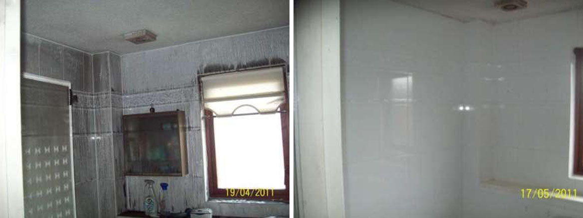 Smoke Damaged Bathroom Before and After